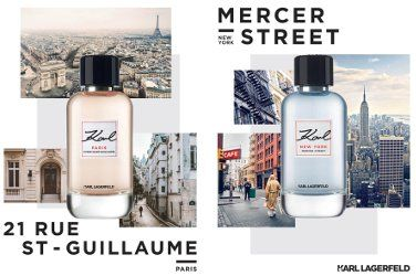Karl Lagerfeld New York, Mercer Street & Paris, 21 Rue Saint-Guillaume ~ new fragrances