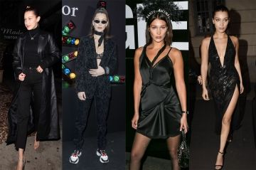 People Style:  le all black selon Bella Hadid