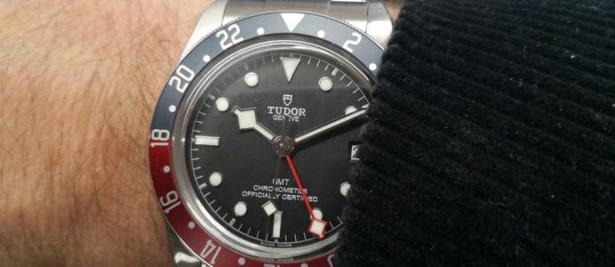 Tudor Black Bay GMT, belle de nuit