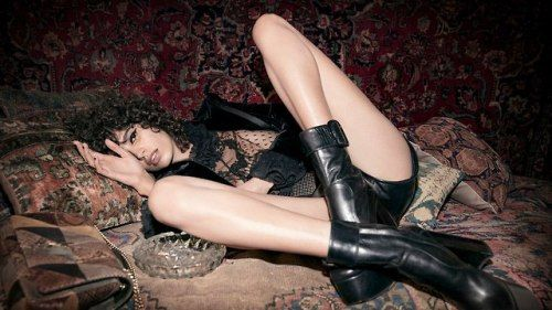 Mica Argañaraz by Inez and Vinoodh for Saint Laurent by Anthony