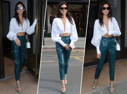 Sara Sampaio:  chic et casual pour la Fashion Week de Londres