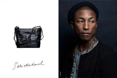 Pharrell Williams, premier Homme dans une campagne de sac à main CHANEL