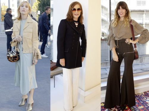 PHOTOS. Isabelle Huppert, Mélanie Thierry, Lou Doillon. les people au défilé Chloé à la Fashion Week