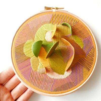 Colorful 3D Embroideries by Justyna Wolodkiewicz