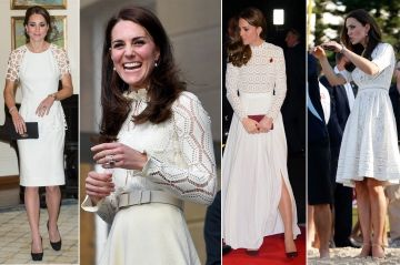 Royal Style - Kate, zoom sur ses robes blanches à trou-trous