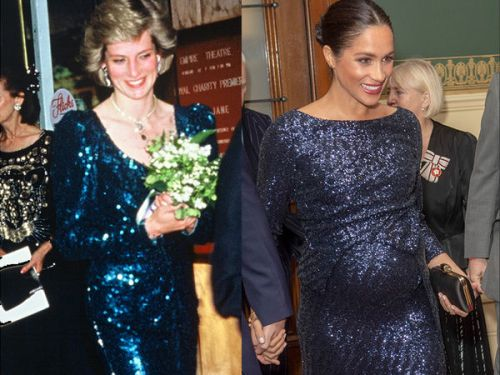 PHOTO. Sublime en robe pailletée, Meghan Markle s'inspire du look de Lady Diana