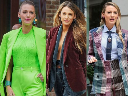 PHOTOS. Veste en velours, total look fluo:  le week-end très stylé de Blake Lively à New York