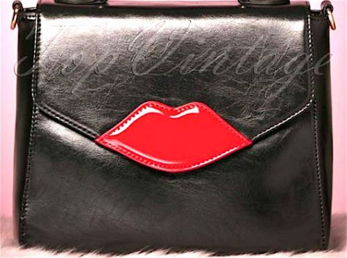 "Wanted:  Le sac cartable ""Read my Lips"" de Top Vintage"