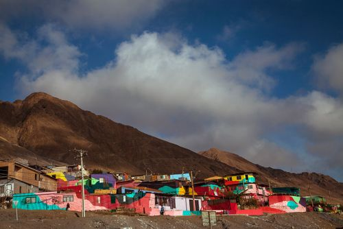 Brightly Colored Neighborhood in Chile