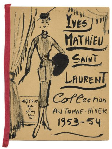 Yves Saint Laurent, les dessins de jeunesse