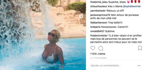 PHOTOS. Ophélie Winter so sexy en bikini à la piscine