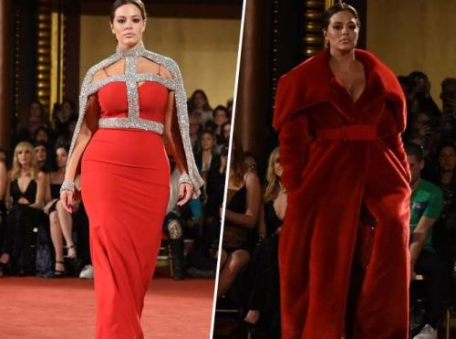 Fashion Week de New York:  Ashley Graham star du défilé Chrisitian Siriano