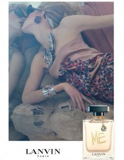 "ISELIN STEIRO for Lanvin ""Me"" fragrance campaign by Steven Meisel"