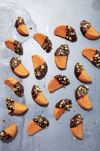 Minibiscottis à l'orange et au chocolat
