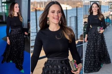 Royal Style - Sofia colore avec fantaisie son total look noir