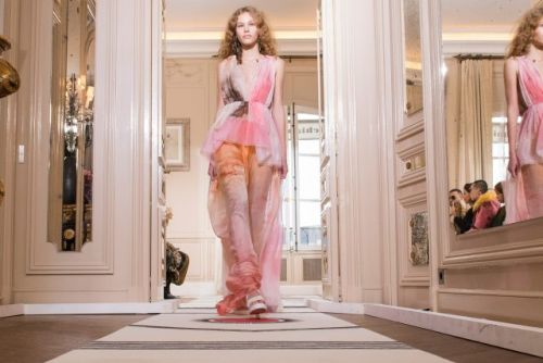 This copper-tressed babe just blipped on the radar, here's what we found out Schiaparelli's new girl