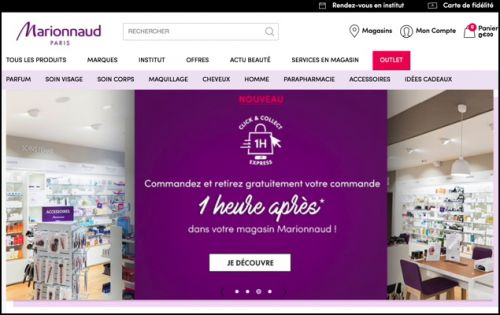 Marionnaud lance un service « Click and Collect Express 1h »