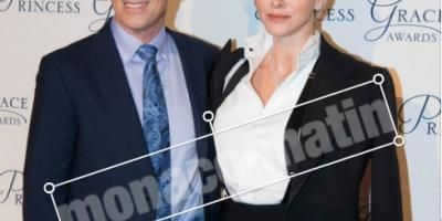 La princesse Charlène récompense l'acteur Tim Daly à New York
