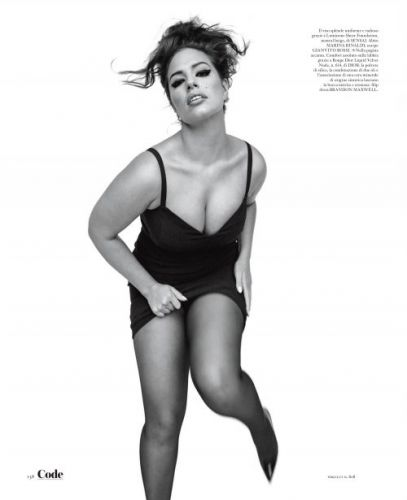 Ashley Graham Gives It Straight Up for Vogue Italia