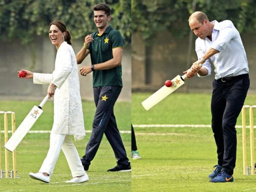 PHOTOS. Kate Middleton et le prince William au Pakistan : le couple de Cambridge, tout sourire lors d'une séance de cricket