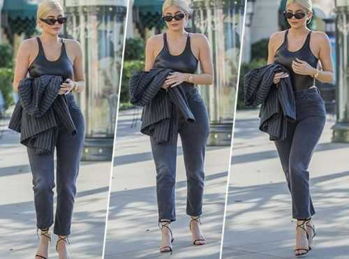 Kylie Jenner:  Qui valide son total look black sexy chic ?