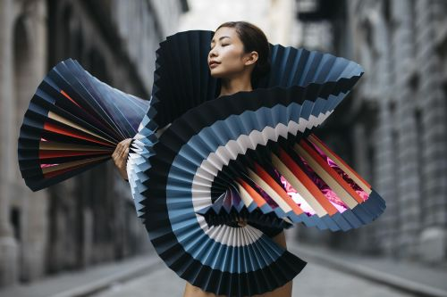 When Origami Meets Dance and Photography
