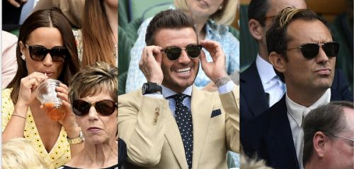 PHOTOS. Wimbledon 2019:  Pippa Middleton, David Beckham, Jude Law. Les stars sont de sortie !