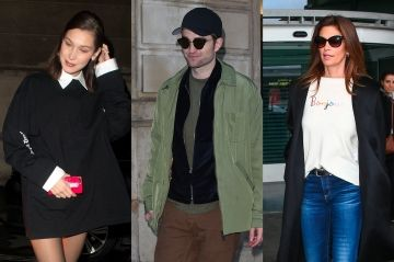 Robert Pattinson, Cindy Crawford, Bella Hadid. Les stars à Paris pour la Fashion Week