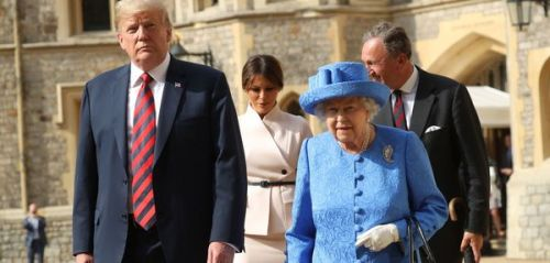 PHOTOS. La rencontre de Donald Trump et la reine Elizabeth II en images