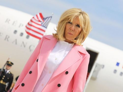 PHOTOS. Brigitte Macron:  sa garde-robe 100% Louis Vuitton aux Etats-Unis