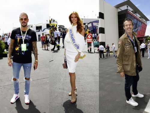PHOTOS. Maëva Cooke, David Guetta, Paul Belmondo. les people au Grand Prix de Formule 1