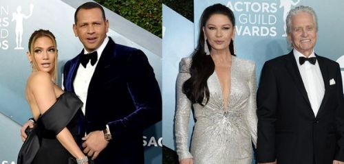 Jennifer Lopez et Alex Rodriguez, Catherine Zeta-Jones et Michael Douglas:  zoom sur les couples des SAG Awards 2020